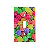 Gumdrops - Decor Single Switch Plate Cover Metal