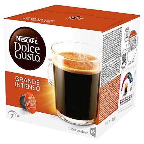 NESCAFE Dolce Gusto Grande Intenso bolsitas de café 16 cápsulas (Pack de 3 x 160