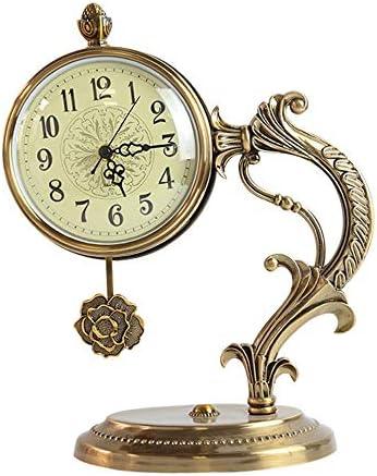 アメリカの時計装飾品レトロデスク時計ヨーロッパのデスクスタディオフィスソフトデコレーション芸術的なベッドサイド置時計 作りがいい