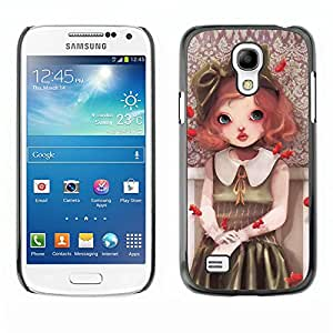 Paccase / SLIM PC / Aliminium Casa Carcasa Funda Case Cover - Cute Girl Painting - Samsung Galaxy S4 Mini i9190 MINI VERSION!