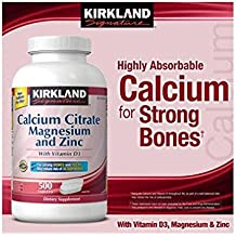 Kirkland Signature™ Calcium Citrate with Vitamin D, Magnesium and Zinc 2 Bottles, 250 Tablets Each