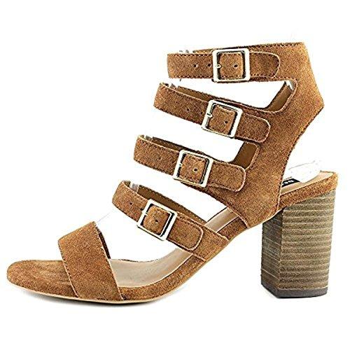 Buy design lab sara womens suede strappy block heels