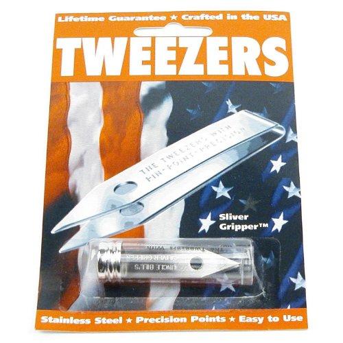 Uncle Bill ins Sliver Gripper Tweezers