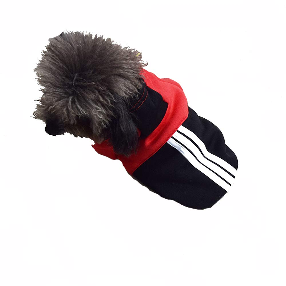 RED Pet Clothes Dog Clothes Teddy Clothes Autumn and Winter Clothes Puppy pet VIP Four-Legged Clothes (color   RED)