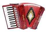 Fever Piano Accordion 25 Keys 12 Bass, Red