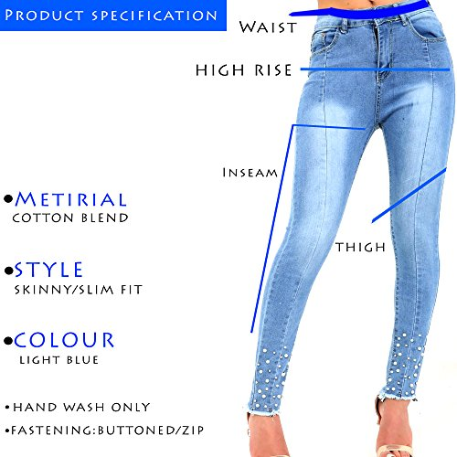 Xelay Light Donna M52 Blue Jeans Skinny awqHx1Ona7