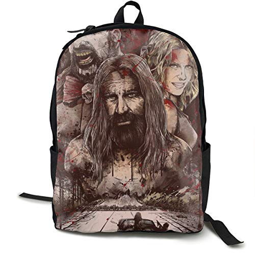 Devils Rejects Backpack Campus School Bag Casual Backpack Gym Travel Hiking Canvas Backpack