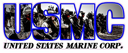 Decal Flag Marine Corps (Nostalgia Decals UNITED STATES MARINE CORPS LETTERING DECAL 8