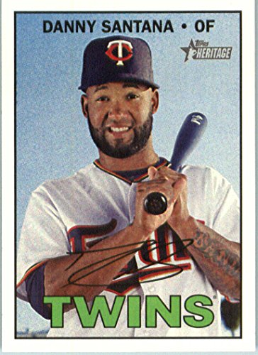 2016 Topps Heritage High Number #670 Danny Santana Minnesota Twins Baseball Card in Protective Screwdown Display Case ()