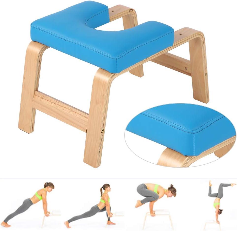 Ejoyous Banc de Yoga en Bois de Poirier-Support Banc dentra/înement dinversion de Yoga Banc de Soutien de Pratique Tabouret de Chaise de Support de Yoga Doux et Robuste de Conception Ergonomique