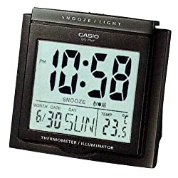 Casio #DQ750F-1DF Multi Function Digital Thermometer Table Top Alarm Clock