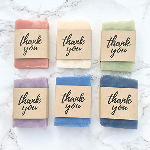 Thank You Soap Wedding, Bridal or Baby Shower Favors, 24 Pack, Vegan Natural Unique Gift for Guests Open House