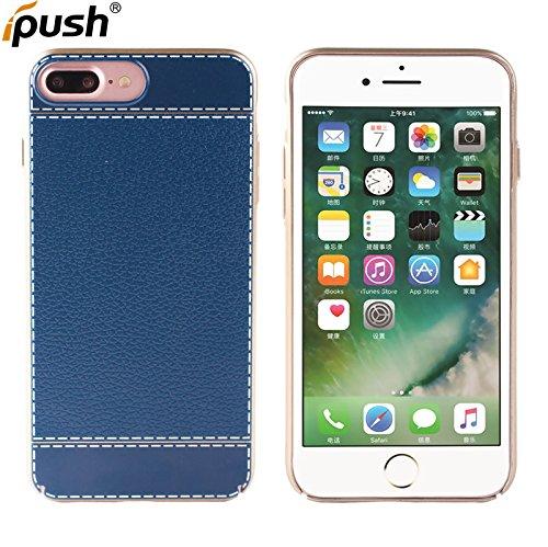 iPhone 7 plus cas de téléphone, design Stripe Matériel PC peinture au pistolet Cover Antichoc Case Résistant aux chocs Goutte à l'épreuve Cas de Téléphone Portable Etui Housse pour iPhone 7 plus (bleu