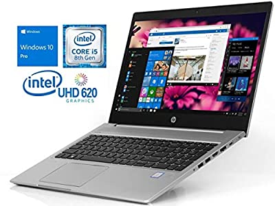 "2019 HP Probook 450 G6 15.6"" HD Business Laptop (Intel Quad-Core i5-8265U, 16GB DDR4 RAM, 512GB M.2 SSD, UHD 620) Backlit, USB Type-C, RJ45, HDMI, Windows 10 Pro Professional"