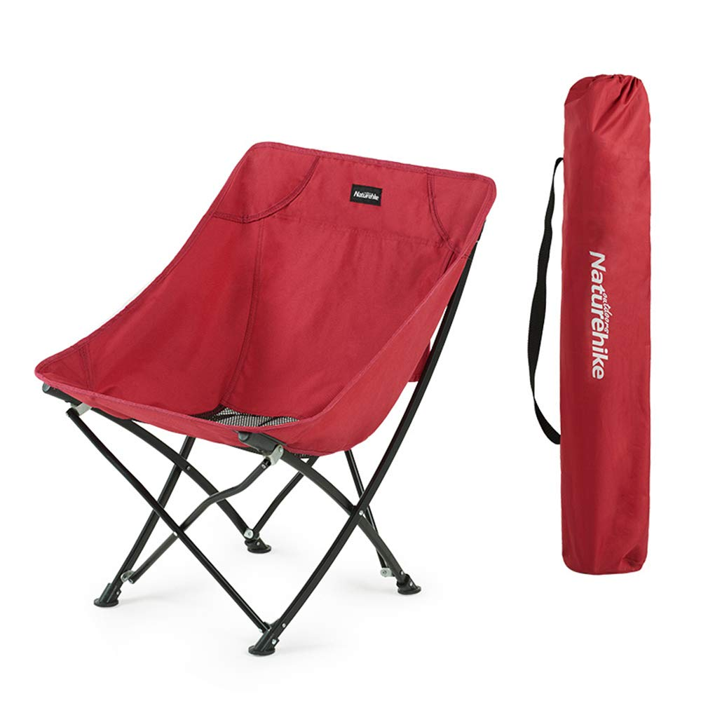 Black Camping Chair  Foldable Portable Fishing, Outdoor Beach Moon Director Chair