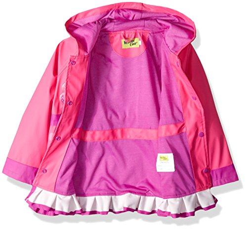 Western Chief Girls Rain Coat, Flower Cutie, 6