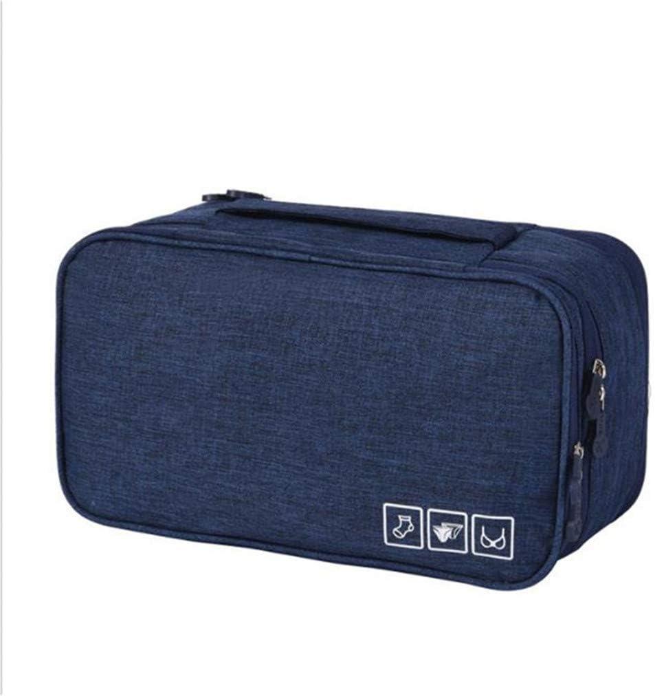 Bleu Sevenfly Organisateur de Voyage Multifonctionnel portatif Sac de Maquillage pour cosm/étiques Sac de Rangement pour Bagages Soutien-Gorge pour sous-v/êtements Pochette