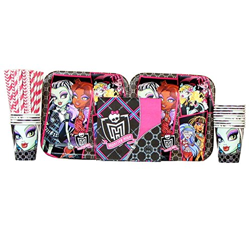 Monster High Lunch Napkins (Monster High Party Supplies Pack for 16 Guests: Straws, Dinner Plates, Luncheon Napkins, and Cups (Bundle for 16))