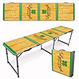 Infusion Custom 8-Foot (Regulation Size) Premium Folding Beer Pong Travel Table - Shamrock