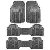 FH GROUP F11306-3ROW Quality All Weather Rubber Auto Floor Mats Liner - Gray