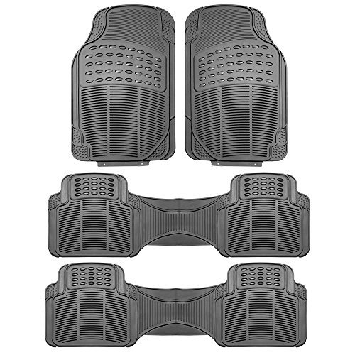 FH GROUP F11306-3ROW Quality All Weather Rubber Auto Floor Mats Liner - Gray by FH Group (Image #7)