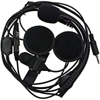 KENMAX 1 Pin 3.5mm Open/Half Face Motorcycle Helmet Headset Mic Microphone for Yaesu Vertex VX-7R VX-120 VX-127 VX-170 VX-177