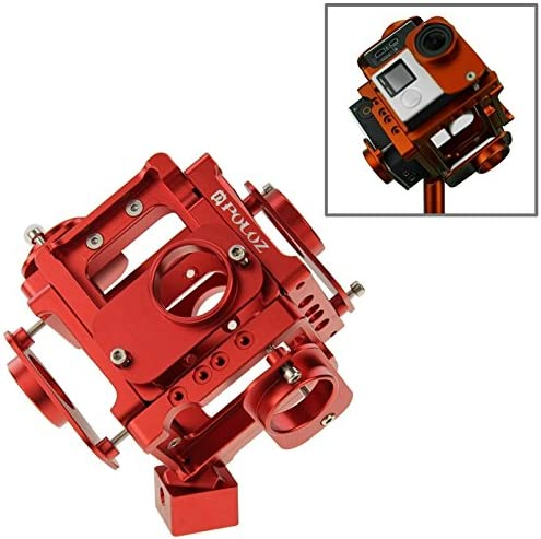 Color : Red Camera Accessories 6 in 1 CNC Aluminum Alloy Housing Shell Protective Cage with Screw for GoPro HERO4 //3+ Black