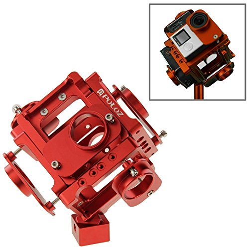 Camera Accessories 6 in 1 CNC Aluminum Alloy Housing Shell Protective Cage with Screw for GoPro HERO4 /3+(Black) (Color : Red) by LUQIN