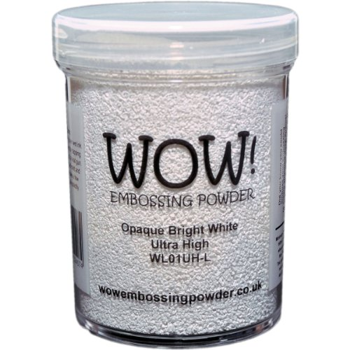 WOW! Embossing Powder 160ml-Opaque Bright White Superfine by Wow Embossing Powder