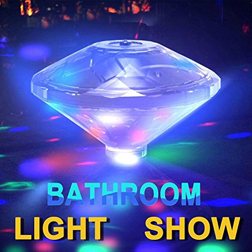 t,Floating Lamp LED Disco Aqua Glow Multi Colour Flashing Bathroom Pond Pool Spa Hot Tub Party Night Light Bath Light Up Toy with 7 Pattern Modes (Aqua Spa Cover)