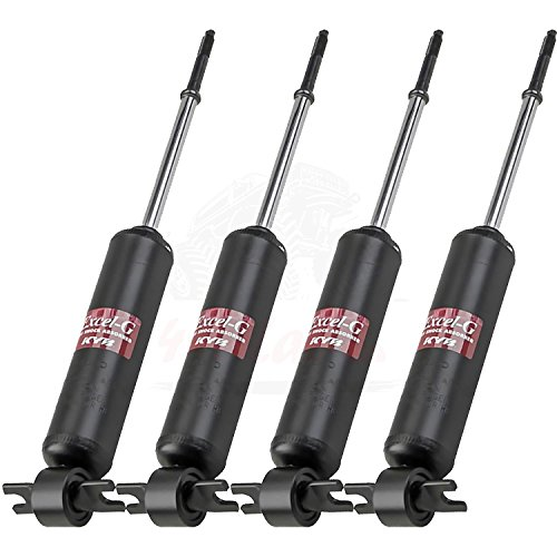 KYB Quick Mount Kit of 4 Shocks (Front + Rear) fits CHEVROLET Corvair 60-64 GR-2/EXCEL-G Twin Tube Gas Charged part number 343127, 343127 for Replacement, Performance, Leveling, Touring & 4x4 Offroad (4 Fuel Tube)