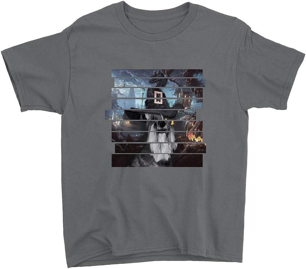 Venley Schnauzer Halloween Youth T-Shirt