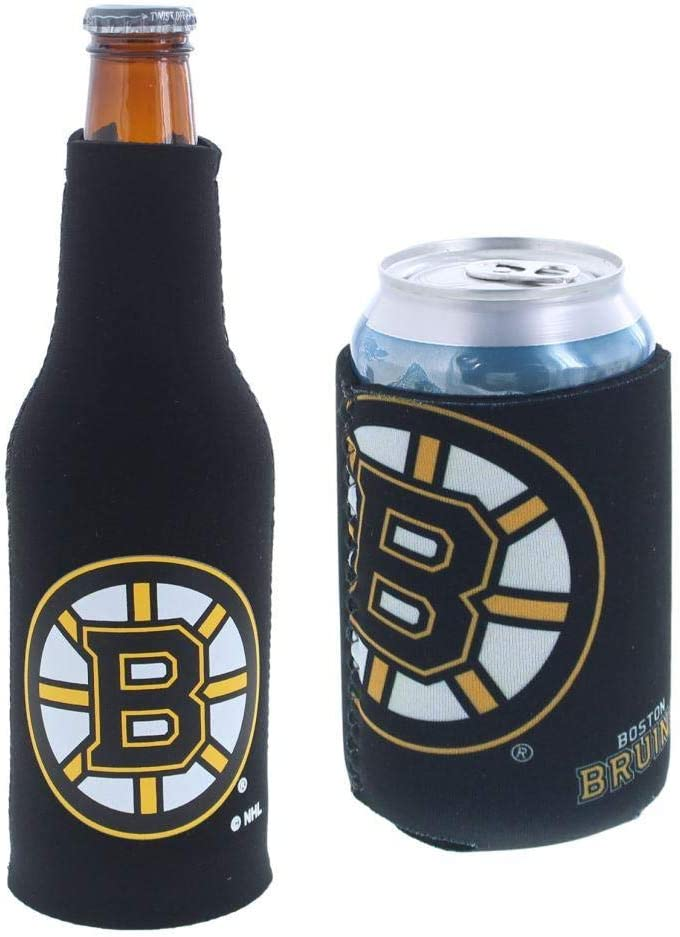 NHL Hockey Team Color Logo Can & Bottle Holder Insulator Beverage Cooler Set