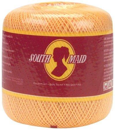 (Coats Crochet South Maid Crochet, Cotton Thread Size 10, White by Coats Crochet)