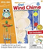 MasterPieces Works of Ahhh Real Wood Large Acrylic Paint & Craft Kit, Wind Chime with Owl, Mom's...