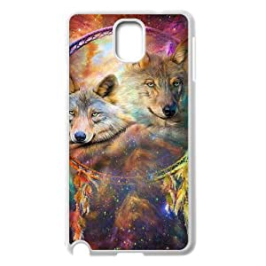 Samsung Galaxy Note 3 N9000 2D Customized Hard Back Durable Phone Case with wolf dream catcher Image