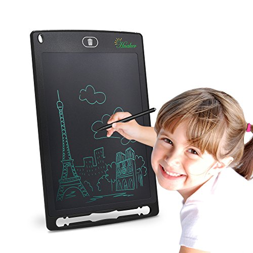 Huaker Writing Tablet, 8.5-inch Screen Electronic drawing pad,Portable drawing tablets for Kids and Adults at Home, School and Work Office(Black) by Huaker