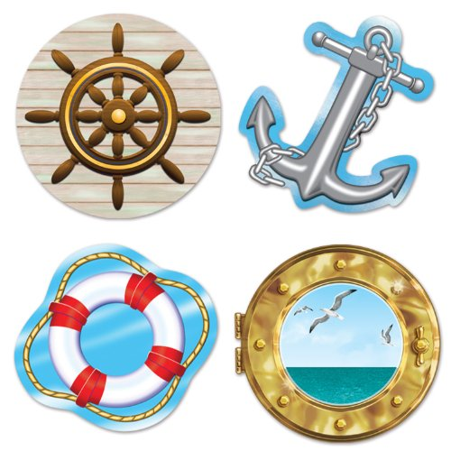 Beistle 54217 Nautical Cutouts, 133/4-Inch -