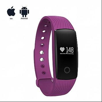 Montre Connectée Sport Fitness Tracker dActivité avec Écran Tactile,Chronomètre/Appel SMS