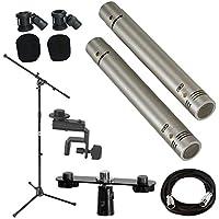 Samson C02 Pencil Condenser Microphones + Mic Stand + Mic...