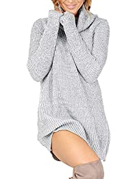 Womens Autumn Winter Long Sleeve Knit Pullover Turtleneck Sweater