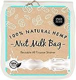 Nut Milk Bag Reusable Filter for Straining, Organic Hemp Fine Mesh, 3 Sizes, Coffee, Almond Pulp, Yoghurt, Ghee, Cannabutter, Kefir, Kombucha, Kava Strainer, BPA Free.
