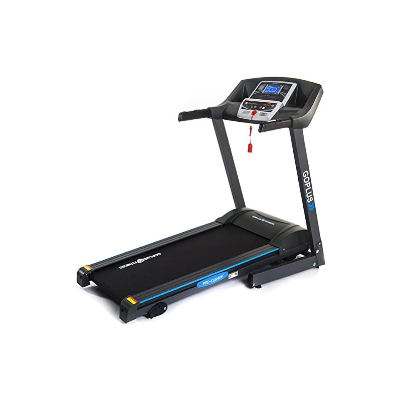 Goplus Folding Treadmill Electric Suppor