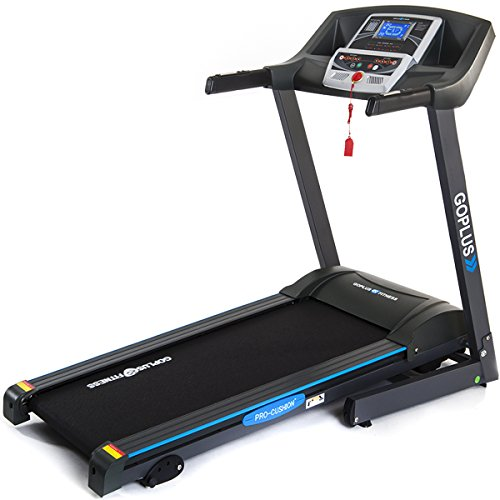 Goplus 2.25HP Folding Treadmill Electric Support Motorized Power Running Fitness Jogging Incline Machine g Fitness Jogging Incline Machine Fitness Jogging Incline Machine Black Jaguar Ⅱ(Classic)]()