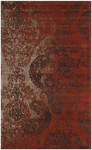 Safavieh Classic Vintage Collection CLV222A Rust and Brown Area Rug 3 x 5