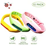 SMPK DEFENSE (10 Pack) Mosquito Repellent Bracelet, 100% Natural Plant-Based Oil, Non-Toxic Travel Insect Repellent, Safe Deet-Free Band, Soft Silicone Material for Adults & Kids, Keeps Bugs Away