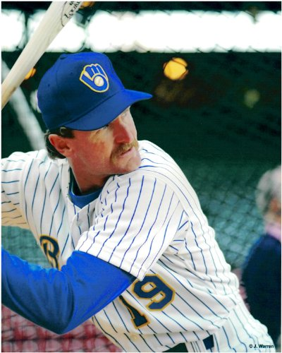 Robin Yount Milwaukee Brewers Unsigned Baseball Photo 1