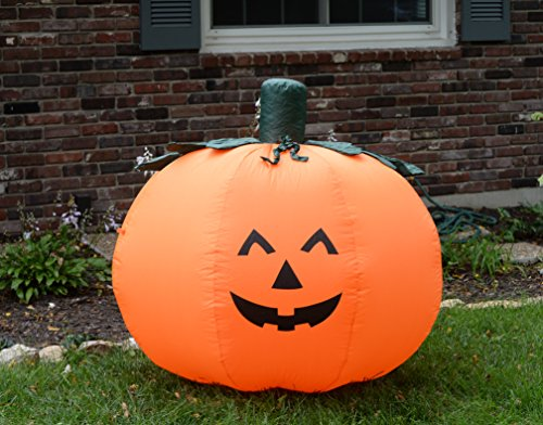 Fun foot self inflating illuminated pumpkin halloween