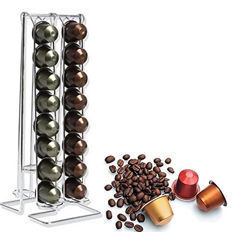 Cápsulas espacio de acero ? Dispensador para 32 Cápsulas Nespresso y compatibles