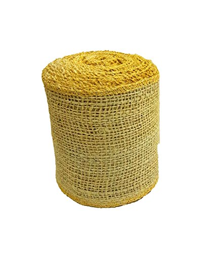 AAYU Brand Premium Burlap Ribbon 4 inch |Burlap Ribbon Roll 10 yards | 7oz Fabric | 100% Natural Burlap Mesh Ribbon, Burlap Wreath Ribbon, Wreath Making Burlap | Eco-Friendly, Natural Product
